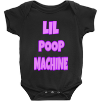 Black Girls Lil Poop Machine Onesies