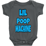 Charcoal Boys Lil Poop Machine Onesies