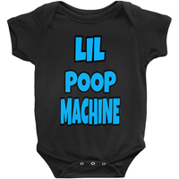 Black Boys Lil Poop Machine Onesies