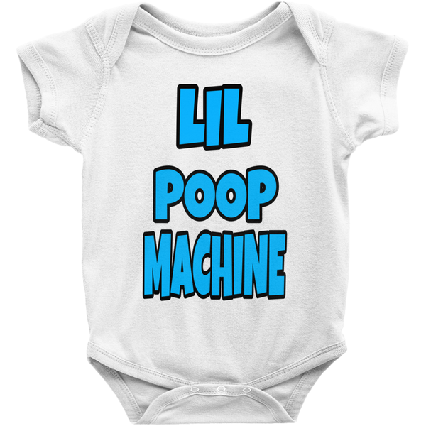 White Boys Lil Poop Machine Onesies