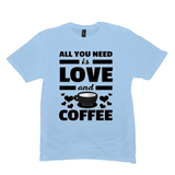 Ice Blue All You Need is Love and Coffee T-Shirts