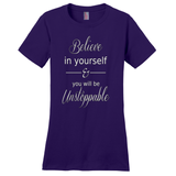 Purple Believe In Yourself T-Shirts