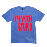 Heather Royal I'm With Stupid Tshirts