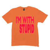 Orange I'm With Stupid Tshirts