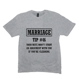 Light Heather Grey Marriage Tip Tshirts