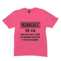Neon Pink Marriage Tip Tshirts