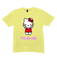 Lemon Yellow F*ck You Kitty Tshirts