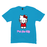 Heather Bright Turquoise F*ck You Kitty Tshirts