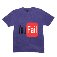 Heather Purple You Fail Tshirts