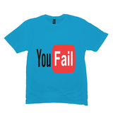 Heather Bright Turquoise You Fail Tshirts