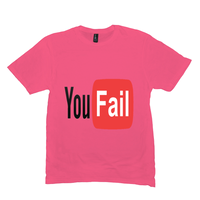 Neon Pink You Fail Tshirts