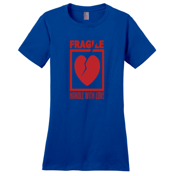 Deep Royal Fragile Handle with Love Tshirts