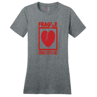 Heathered Steel Fragile Handle with Love Tshirts