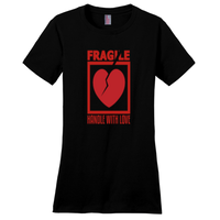 Jet Black Fragile Handle with Love Tshirts