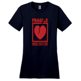 New Navy Fragile Handle with Love Tshirts