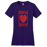 Purple Fragile Handle with Love Tshirts