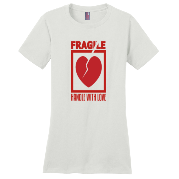 White Fragile Handle with Love Tshirts