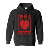 Black Fragile Handle with Love Hoodies (No-Zip/Pullover)