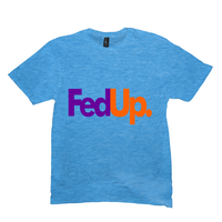 Heather Bright Turquoise Fedup Tshirts