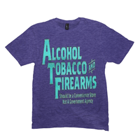 Heather Purple Alcohol Tobacco & Firearms T-shirts