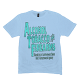 Ice Blue Alcohol Tobacco & Firearms T-shirts