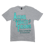 Light Heather Grey Alcohol Tobacco & Firearms T-shirts