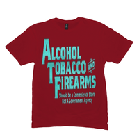 Red Alcohol Tobacco & Firearms T-shirts