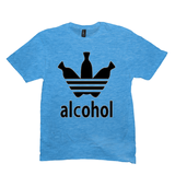 Heather Bright Turquoise Alcohol T-shirts