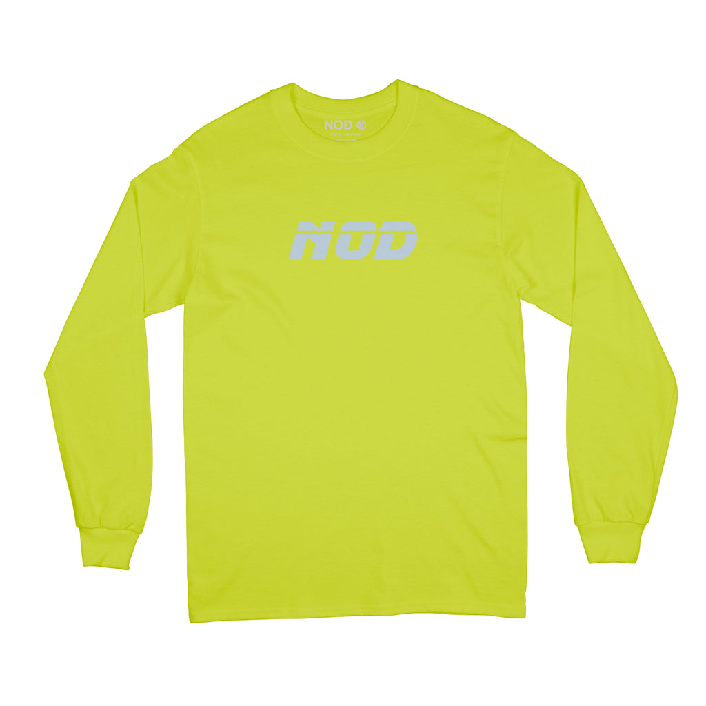"""NC-003"" 3M Logo Long Sleeved T-shirt (Volt) - NOD ® - nod clothing - streetwear clothing brand from Melbourne, Australia."