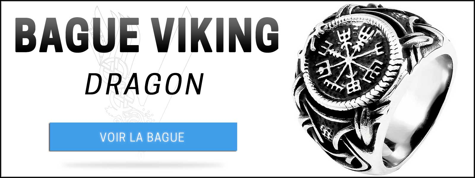 Bague dragon viking