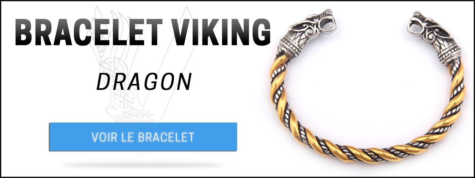 Bracelet viking dragon