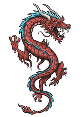 Dragon rouge chinois dessin