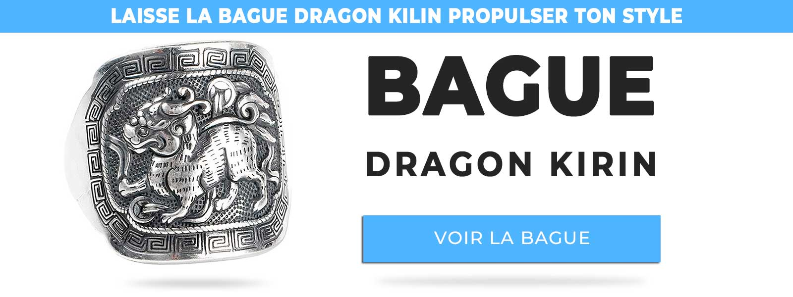 Bague dragon qilin