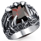 Bague Griffe de Dragon Rouge