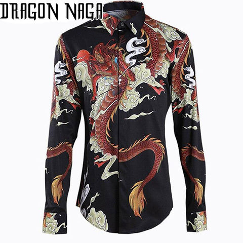 Chemise Dragon Rouge