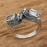 Bague dragon duo