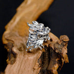 Bague dragon pyromane