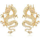 Boucle d'oreille dragon chinois
