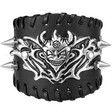 Bracelet Dragon<br> Cuir Punk