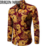 Chemise dragon orange