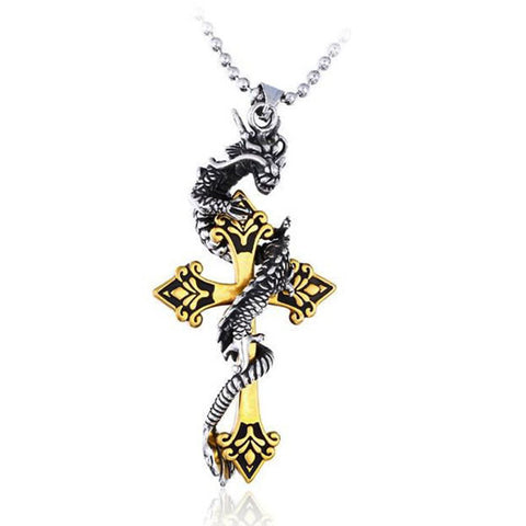Collier Dragon Homme