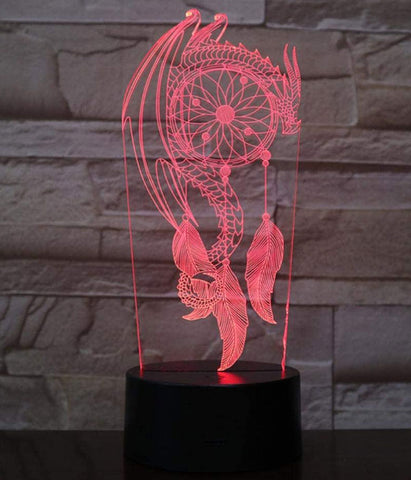 Lampe Dragon Attrape Rêve