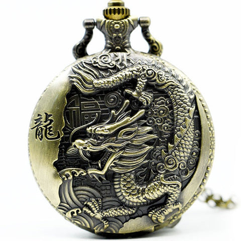 Montre à gousset dragon