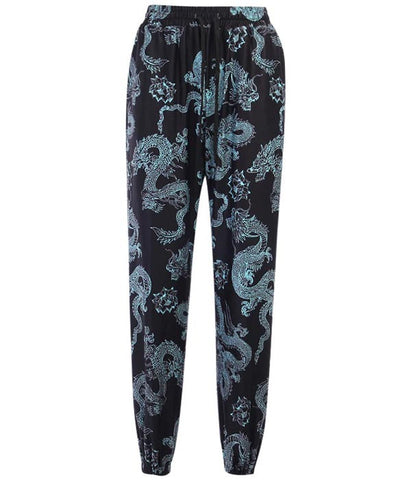 Pantalon Motif Dragon