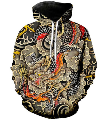 Sweat dragon japonais nuage
