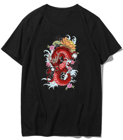 T-Shirt Dragon Chinois Femme