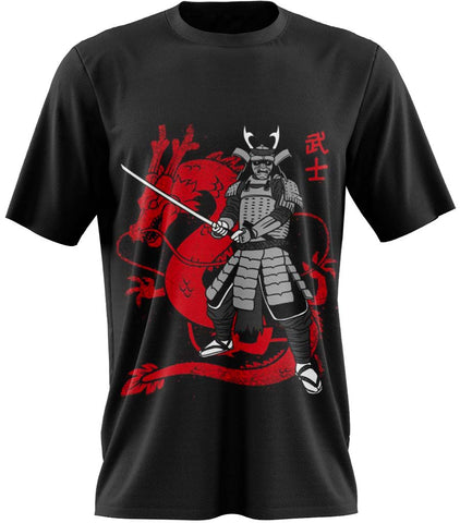 t-shirt dragon rouge