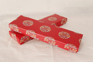 Calligraphy Inspired Duck Red Chopstick and Holder Luxury Gift Set (2 pairs)