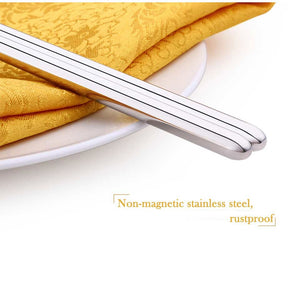 Long Cooking Stainless Steel Chopsticks (1 Pair)