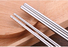 Load image into Gallery viewer, Long Cooking Stainless Steel Chopsticks (1 Pair)
